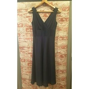 J. Crew navy silk dress